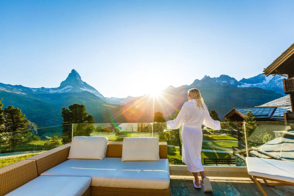Enjoying the view of the Matterhorn
