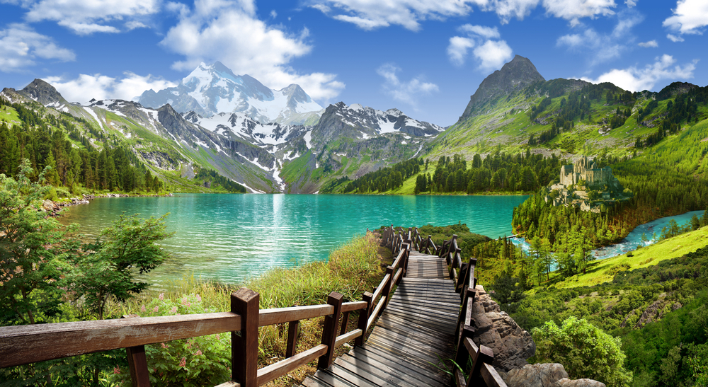 anoramic,View,Of,The,Lake,In,The,Mountains.